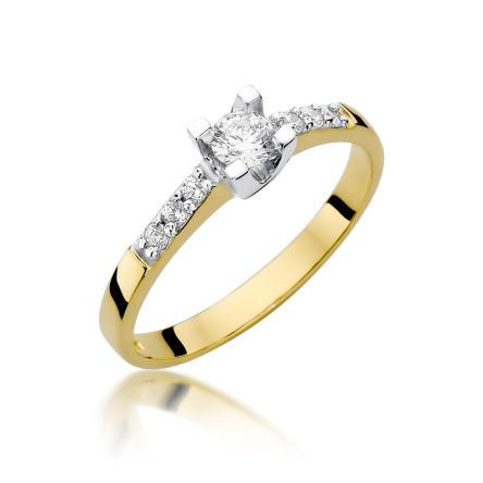 Pierścionek zaręczynowy z brylantami 0.37