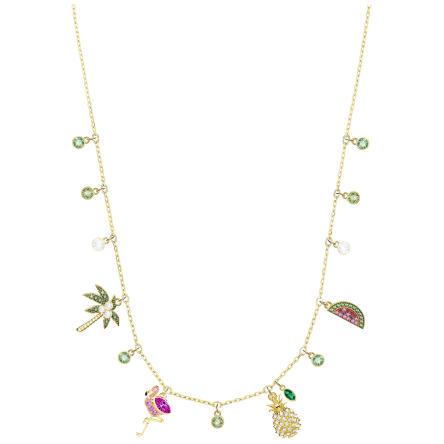 Naszyjnik SWAROVSKI • Lime Charms Necklace, Multi-colored, Gold plating 5375302