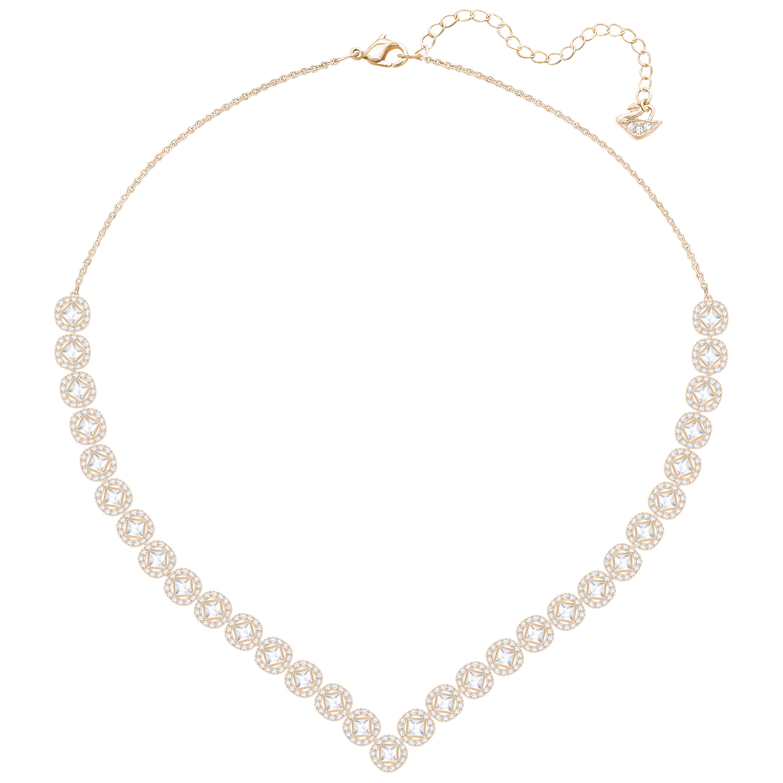 Naszyjnik SWAROVSKI • Angelic Square Necklace, Large, Rose 5351308