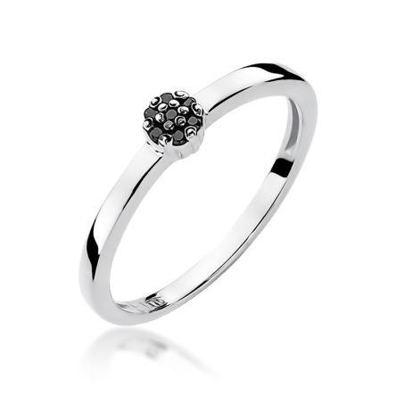 Pierścionek zaręczynowy z brylantami 0.04