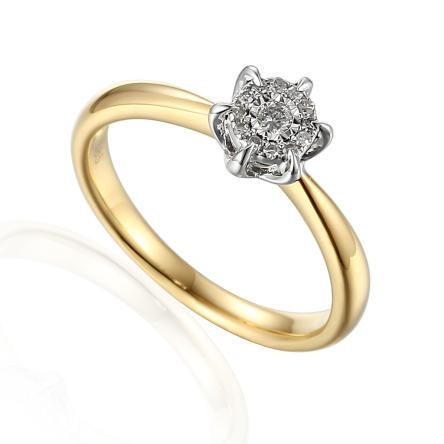 Pierścionek zaręczynowy z diamentami