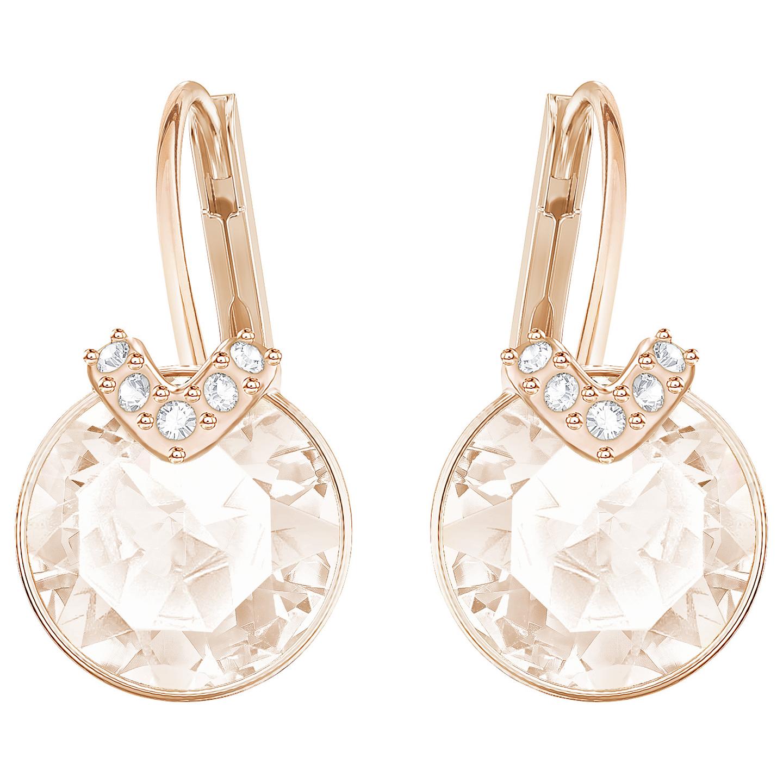 Kolczyki SWAROVSKI • Bella V Pierced Earrings, Pink, Rose 5299318