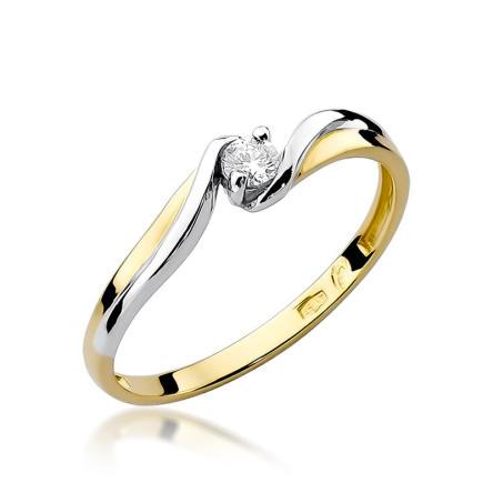 Pierścionek zaręczynowy z brylantem 0.08