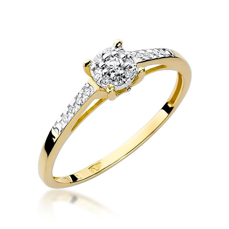 Pierścionek zaręczynowy z brylantami W055-585-B0.12/0.12