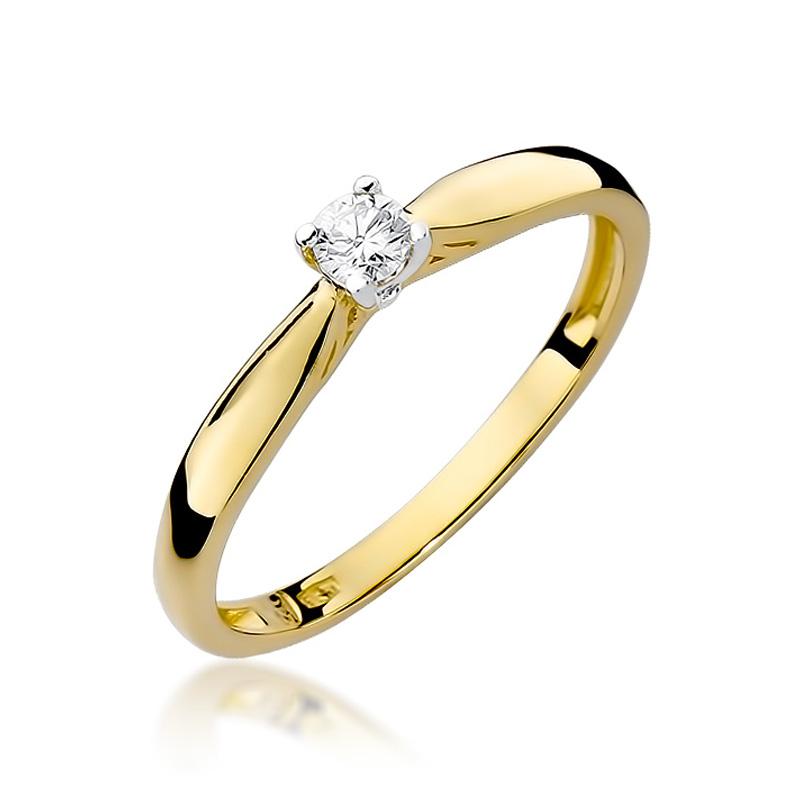 b2c9d94f502ed9 Pierścionek zaręczynowy z brylantem 0.10