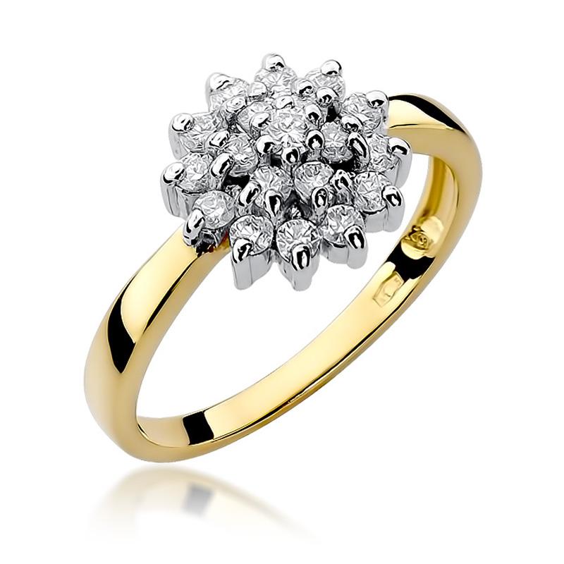 3b924b1a90ec17 Pierścionek zaręczynowy z brylantami 0.40