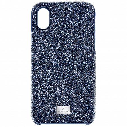Etui SWAROVSKI • High Smartphone Case with Bumper, iPhone® X, Blue 5392041