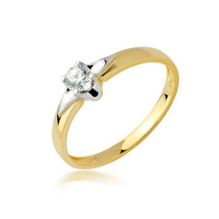 Pierścionek zaręczynowy z brylantem 0.16