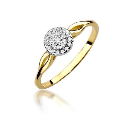 Pierścionek zaręczynowy z brylantami 0.12