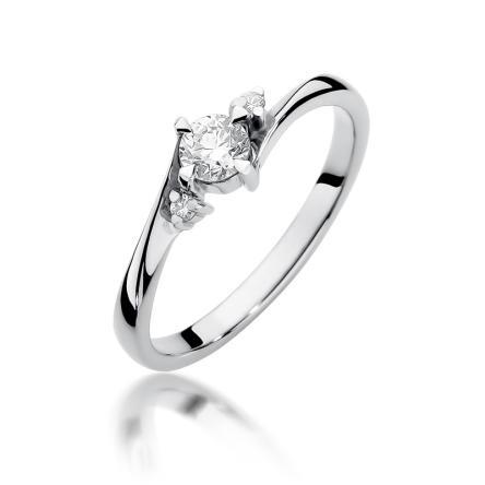 Pierścionek zaręczynowy z brylantem 0.28