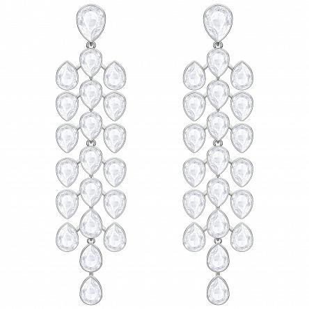 Kolczyki SWAROVSKI • Lake Pear Chandelier Pierced Earrings, White, Rhodium plating 5368249