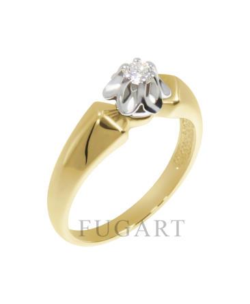 Pierścionek zaręczynowy z brylantem 141