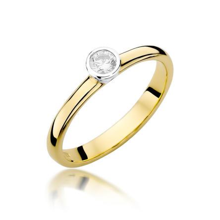 Pierścionek zaręczynowy z brylantem 0.15