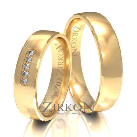 Obrączki ślubne złote • Z003