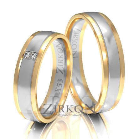 Obrączki ślubne złote • X053