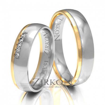 Obrączki ślubne złote • X051