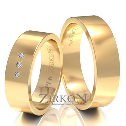 Obrączki ślubne złote • PL6S