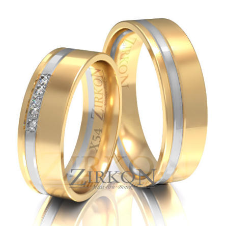 Obrączki ślubne złote • X054