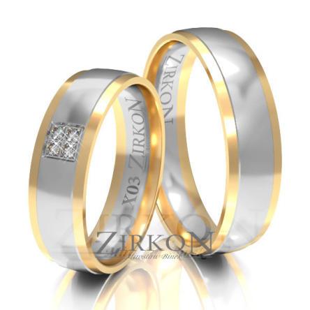 Obrączki ślubne złote • X003