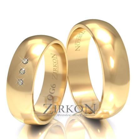 Obrączki ślubne złote • OG6S