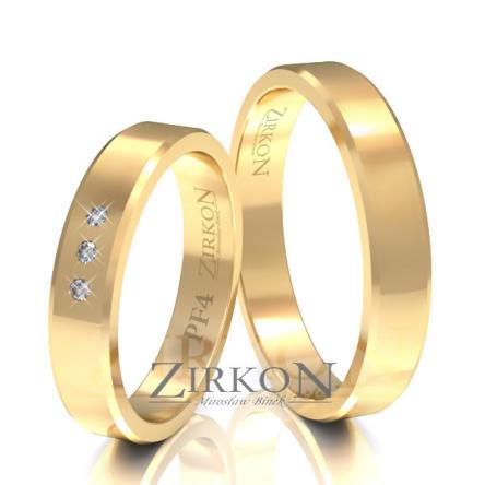 Obrączki ślubne złote • PF4S