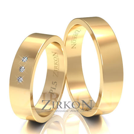 Obrączki ślubne złote • PL5S