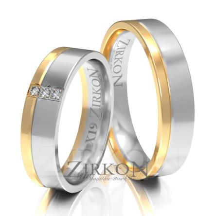 Obrączki ślubne złote • X019