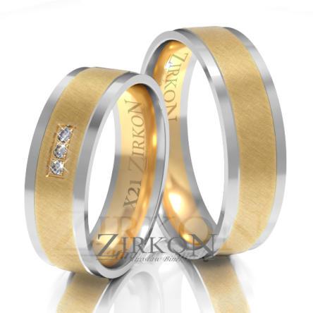 Obrączki ślubne złote • X021