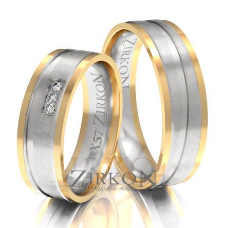 Obrączki ślubne złote • X057