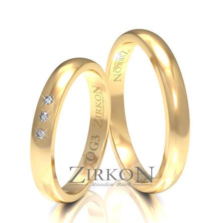 Obrączki ślubne złote • OG3S
