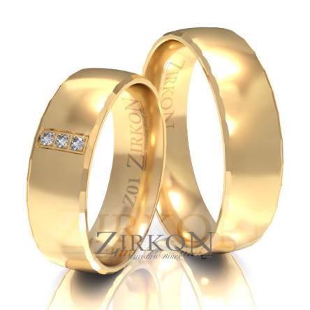 Obrączki ślubne złote • Z001