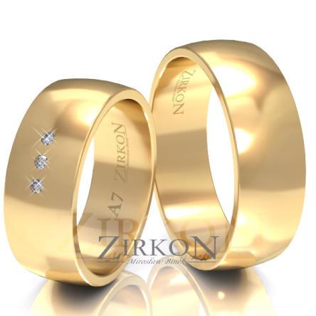 Obrączki ślubne złote • A7S