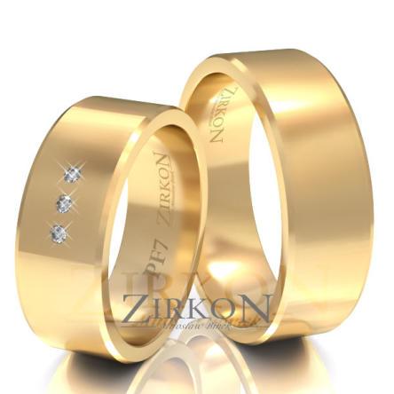 Obrączki ślubne złote • PF7S