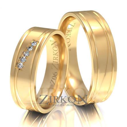 Obrączki ślubne złote • Z006