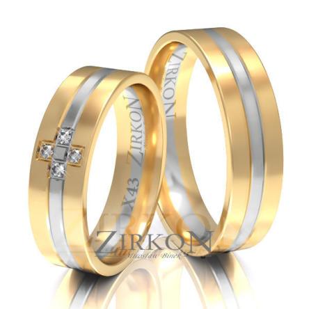 Obrączki ślubne złote • X043