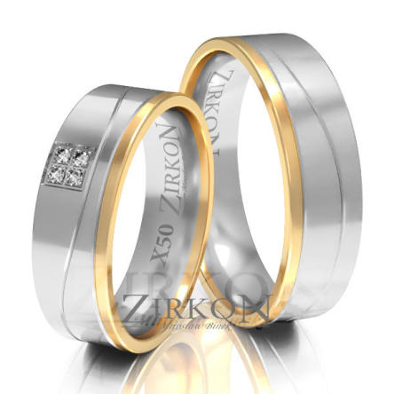 Obrączki ślubne złote • X050