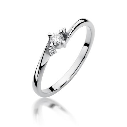 Pierścionek zaręczynowy z brylantem 0.12