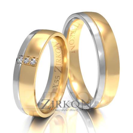 Obrączki ślubne złote • X055