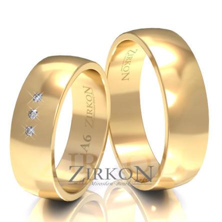 Obrączki ślubne złote • A6S