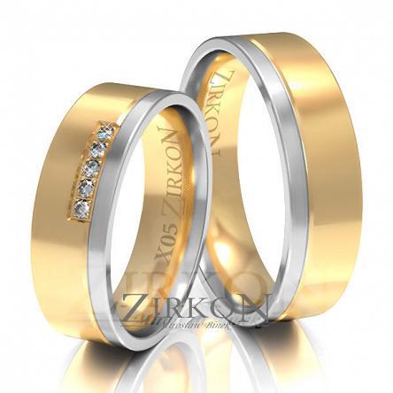 Obrączki ślubne złote • X005