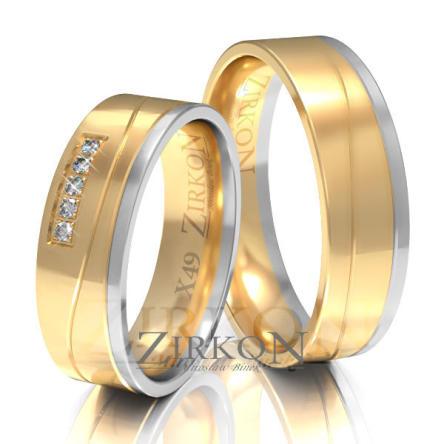 Obrączki ślubne złote • X049