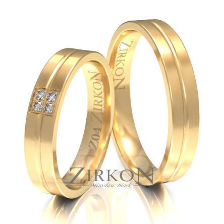 Obrączki ślubne złote • Z004
