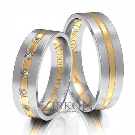 Obrączki ślubne złote • X044
