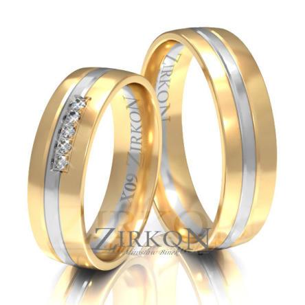 Obrączki ślubne złote • X009