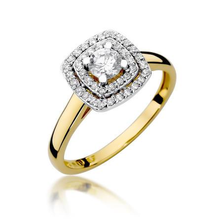 Pierścionek zaręczynowy z brylantami 0.50