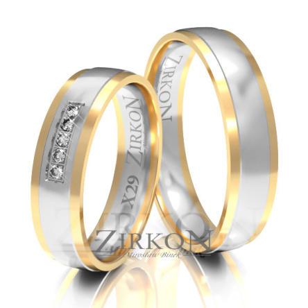 Obrączki ślubne złote • X029