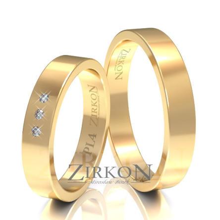 Obrączki ślubne złote • PL4S