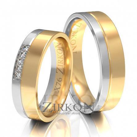 Obrączki ślubne złote • X076