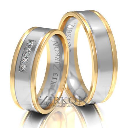 Obrączki ślubne złote • X013