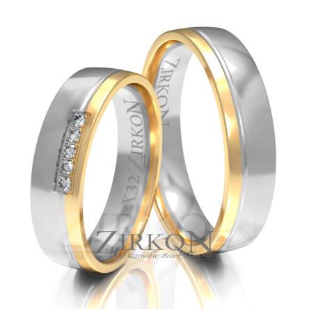 Obrączki ślubne złote • X032